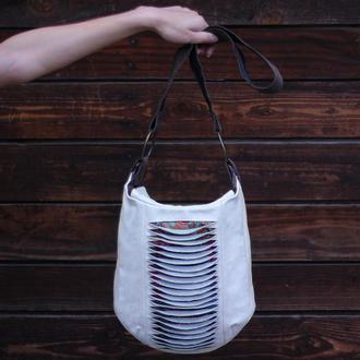 Шкіряна бохо сумка баул CB 0151