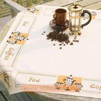 """Набор для вышивки крестом  Vervaco """"Скатерть - Чай и Кофе"""""""