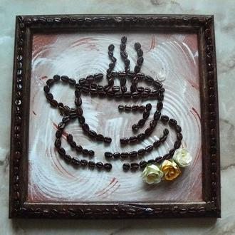 Картины из кофейных зерен для декора