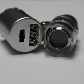 Мікроскопічна лупа з підсвічуванням, фокусом 60х кратне збільшення