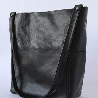 Стильная сумка-шоппер из натуральной кожи