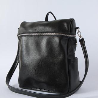 Стильный женский рюкзак-сумка из натуральной кожи