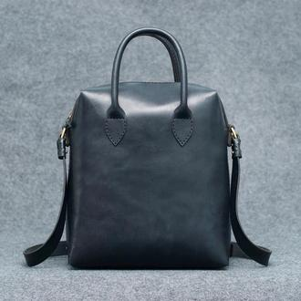 Tote bag black. Тоут кожаный унисекс