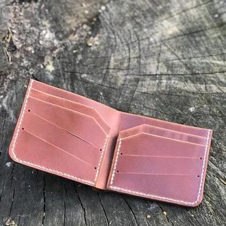 Кожаный кошелёк в глянцевой коже