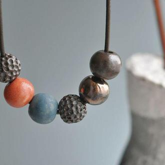Колье из керамики Halftone