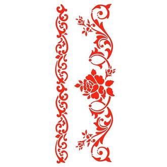 Трафарет 11х33 см Розовый бордюр