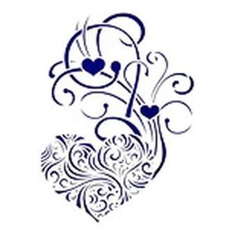 Трафарет декоративный 215х320 мм Сердечные узоры