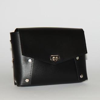 Стильная женская сумка на пояс (через плечо)