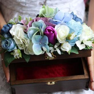 Шкатулка цветочная для украшений
