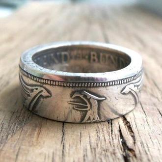 Кольцо из монеты 5 марок ФРГ - Серебро