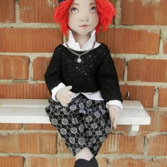 Кукла Мальчик с огненными волосами