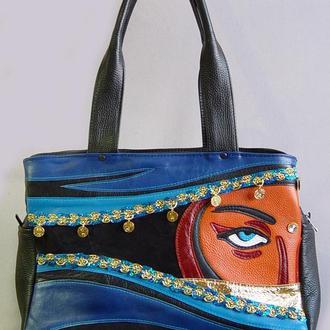 """Шкіряна сумка """"Індія"""""""