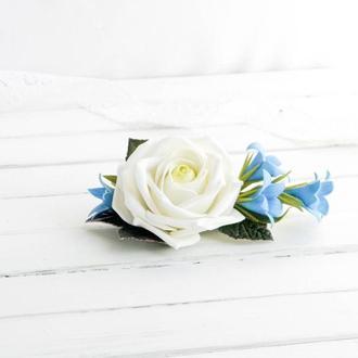 Роза и колокольчики