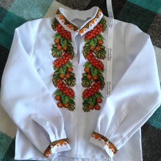 Детская рубашка-вышиванка на мальчика №11