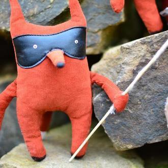 Бандит FOX Кукла Текстильная Прикольная Игрушка Кукла из Ткани Оригинальный Подарок Лисички