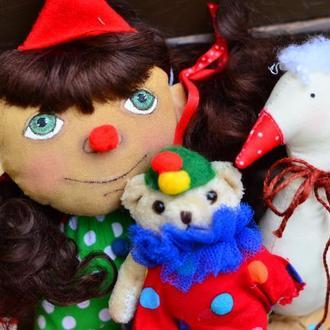 Кукла Текстильная Кукла ХендМейд Игрушка  Сувенир  Ароматизированая Кукла Клоун