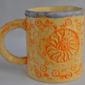 Кухлик, кружка, чашка керамічна велика ′Спека′, майоліка.