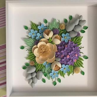 Картина квілінг квіткова композиція