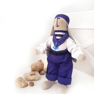 Зайка Моряк матрос морской стиль морская вечеринка море заяц игрушка подарок оригинальный свято і