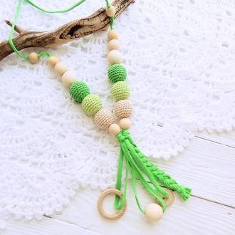 Слингобусы с кисточкой (зеленые)