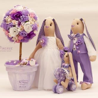 """Весільні іграшки - зайці """"Сімейство Зайцевих"""""""