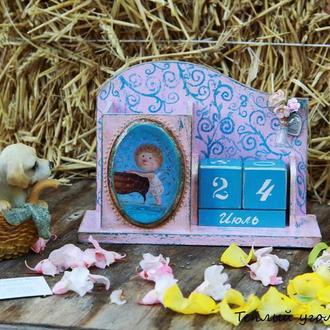 Вечный календарь Розовая бирюза