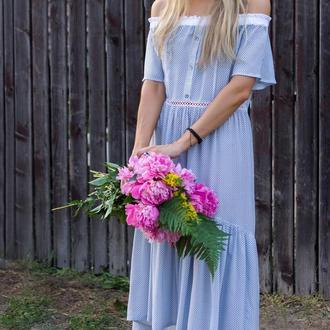 Сукня (біло-блакитна)