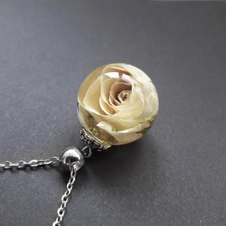 Кулон Роза в стекле