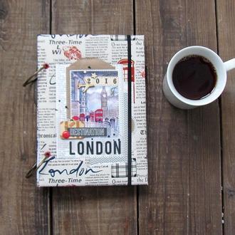"""Тревел бук, блокнот путешественника, тревел """"Лондон"""""""