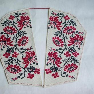 съемный воротник с вышивкой ручной работы