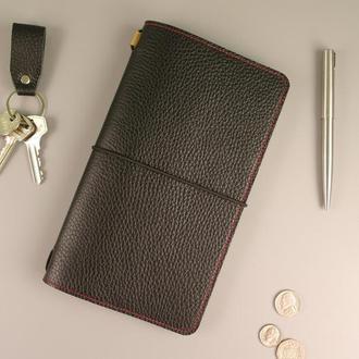 Кожаный блокнот ежднвник со сменным блоком