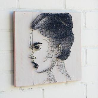 """Портрет """"Балерина"""" в технике stringart"""