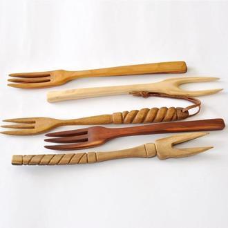 Набор вилок для стейков из разных пород дерева