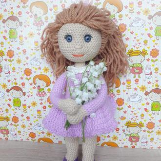Вязаная куколка Тонечка