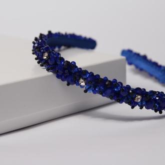 Синий обруч для волос