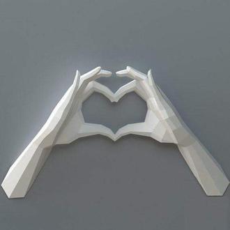 """3D набор для сборки """"Руки-сердце"""""""