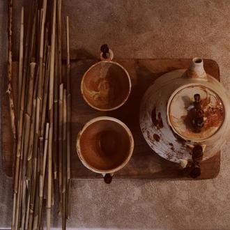 """Чайник """"Сказка леса"""". Деревянная ручка"""