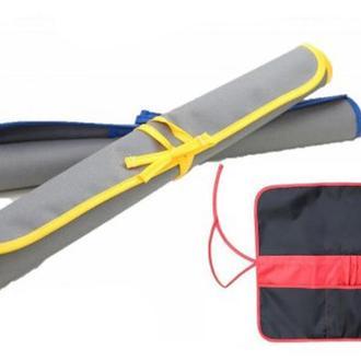 Пенал для кистей из ткани Rosa Studio 37 х 37 см асфальт жёлтый (4823086703438)