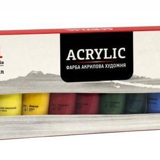 Набор акриловых матовых красок Rosa Studio 12 цветов по 20 мл