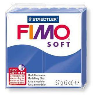 Пластика Soft, мягкая, Синяя блестящая (33), 57г, Fimo