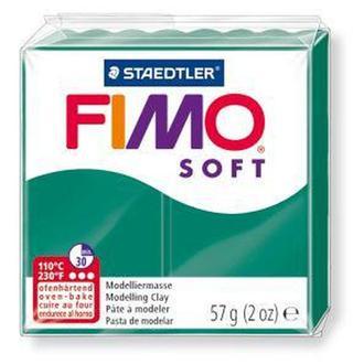 Пластика Soft, мягкая, Смарагдовая зеленая (56), 57г, Fimo