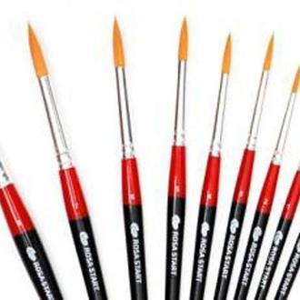 Кисть синтетика круглая Rosa Studio Synthetic 111 № 6 короткая ручка (18611106)