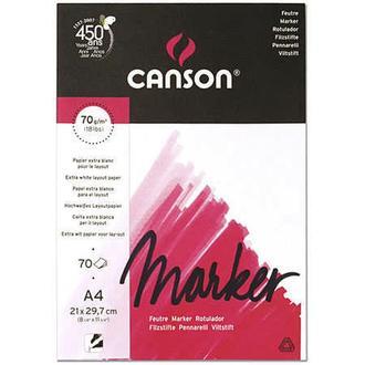 Склейка для маркера Canson LAYOUT экстра гладкая белая А4 (21х29.7см) 70 г/м2 70 листов (200297231)