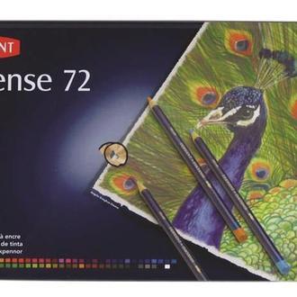 Набор акварельных карандашей Derwent Inktense 72 цвета металлический пенал