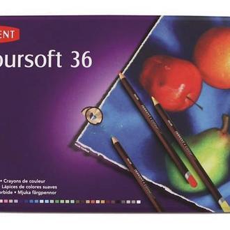Набор цветных карандашей 36цв., метал, Coloursoft, Derwent