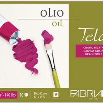 Склейка для масла Fabriano Tela зернистость холста А3 (30х40см) 300 г/м2 10 листов (8001348161196)