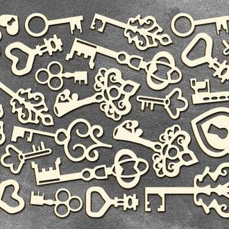 Набор чипбордов для скрапбукинга, Ключи, 014, 10x15см, FD
