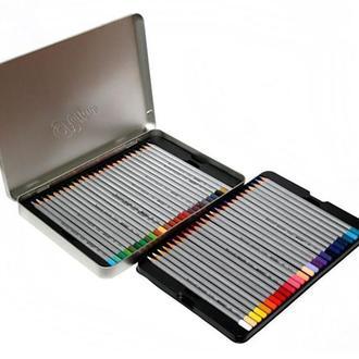 Набор цветных карандашей 50цв., метал, Raffine, Marco