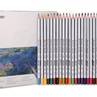 Набор цветных карандашей Marco Raffine 24 цвета металлический пенал