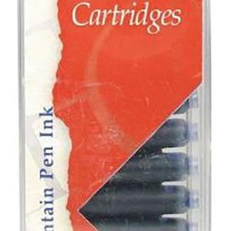 Набор картриджей с чернилами для перьевой ручки, синий, 12шт, Manuscript